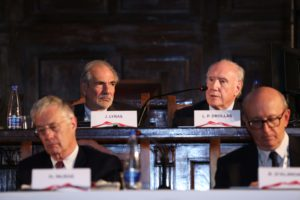 John C. Lyras, Leo Drollas, Hamish McRae, Roberto D'Alimonte